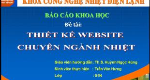 Báo cáo khoa học – Thiết kế website ngành Nhiệt
