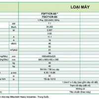 Máy lạnh Mitsubishi Heavy FDF71CR-S5/FDC71CR-S5 (R410, 3.0 HP)