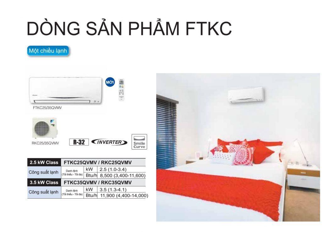 May lanh treo tuong Daikin FTKC - chuc nang Gas R32