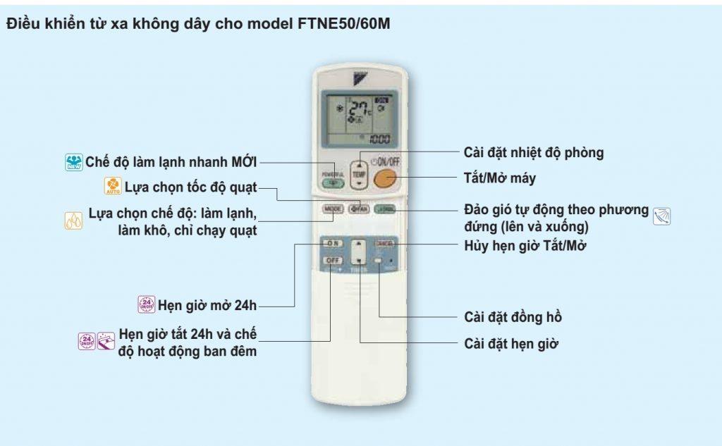 Machine à suspendre Daikin FTNE - télécommande télécommandée