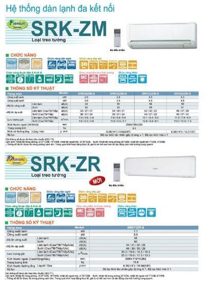 Dàn lạnh Mitsubishi Heavy SRK20ZM-S (R410, 1.0 HP)