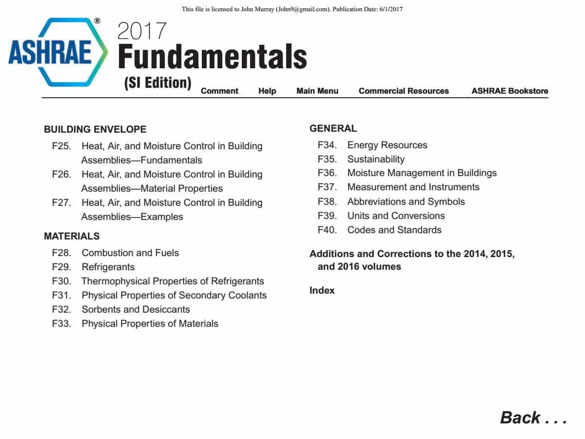 Fundamentals pdf ashrae