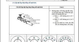 Hướng dẫn lắp đặt đường ống thép và phụ kiện