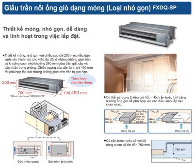 Daikin 의류 기계 VRV A 모델 FXDQ20PDVE 1-HVAC Vietnam