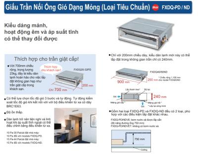 Daikin Bettwäsche und Leinen vrv ein Modell fxdq20pdve 5 - HVAC Vietnam
